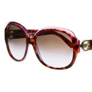 New Michael Kors Tortoise Sunglasses w Pink accent